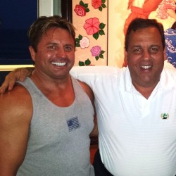 Gary Olson with Governor Christie
